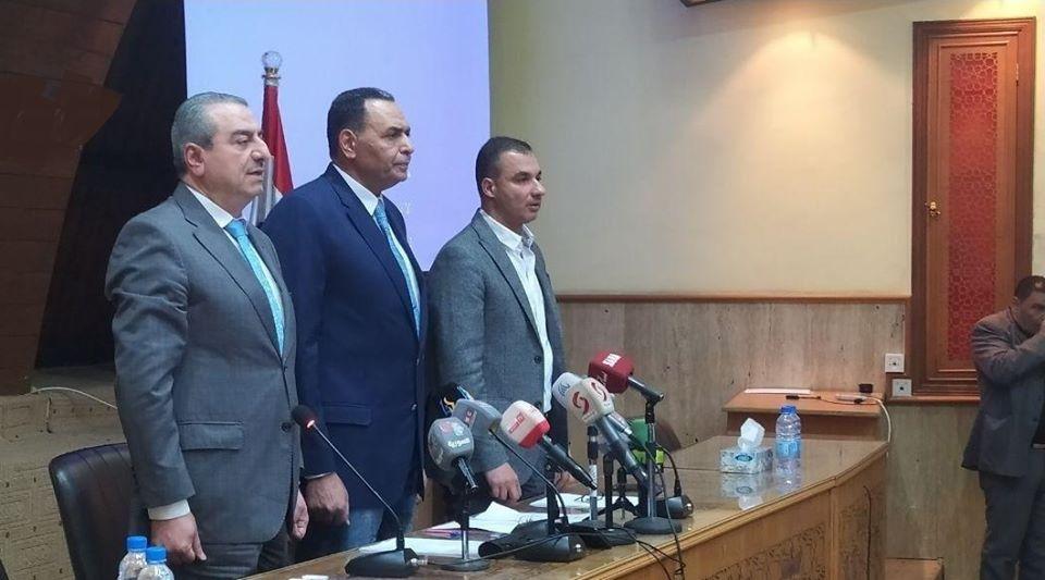 رئيس الاتحاد الرياضي العام فراس معلا خلال مؤتمر صحفي: