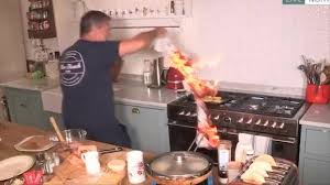 حريق في برنامج طبخ يبث على الهواء