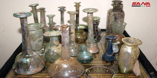 دائرة آثار درعا تستعيد مئات القطع الأثرية التي نهبتها التنظيمات الإرهابية