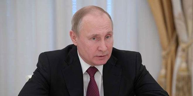 بوتين يجدد الدعوة لتطبيق اتفاق منطقة خفض التصعيد في إدلب