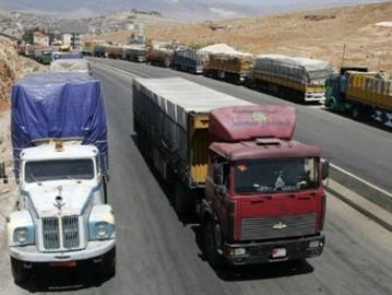 الحكومة تتحمل ربع تكاليف الشحن البري للمنتجات الزراعية إلى العراق والخليج لدعم تصديرها