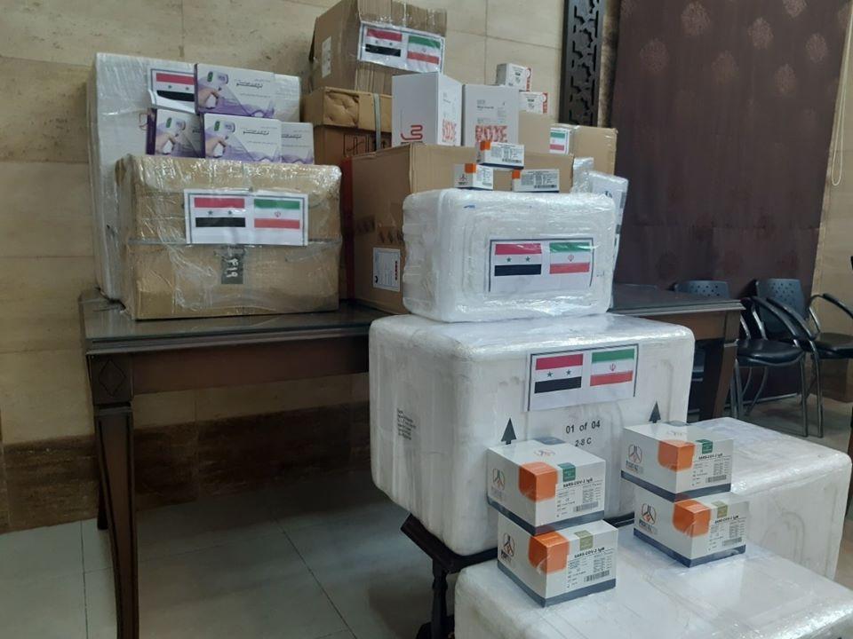 مستلزمات طبية للكشف عن كورونا وأجهزة لقياس الحرارة والأكسجة... مساعدات طبية من ايران
