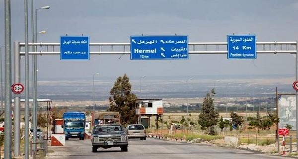فتح الحدود البرية بين سورية ولبنان في 1 و3 أيلول