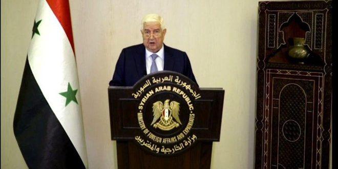 المعلم في كلمة سورية أمام الجمعية العامة: ما يسمى (قانون قيصر) يهدف إلى خنق الشعب السوري..