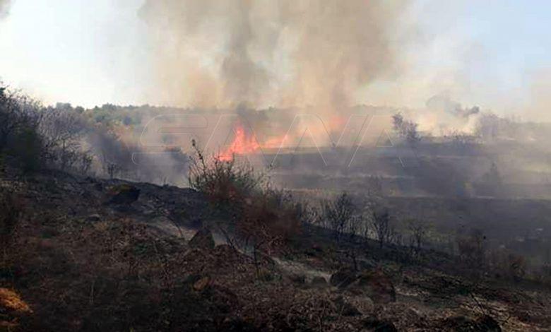 اطفاء حمص تطوق حريق الناصرة.. واندلاع حريقين آخرين بريف حمص الغربي