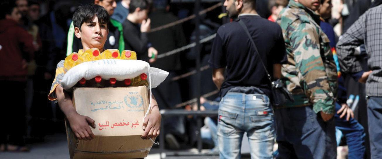 روسيا تدعم السوريين عبر «الأغذية العالمي» بـ20 مليون دولار