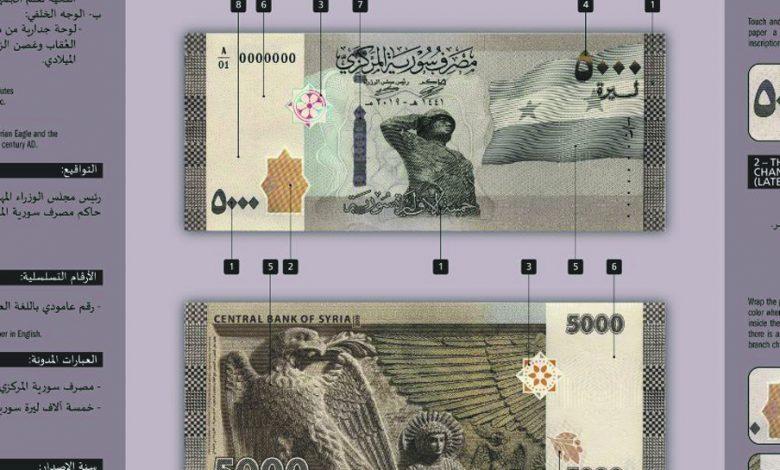 (5000 ل.س) ستطرح خلال رواتب هذا الشهر